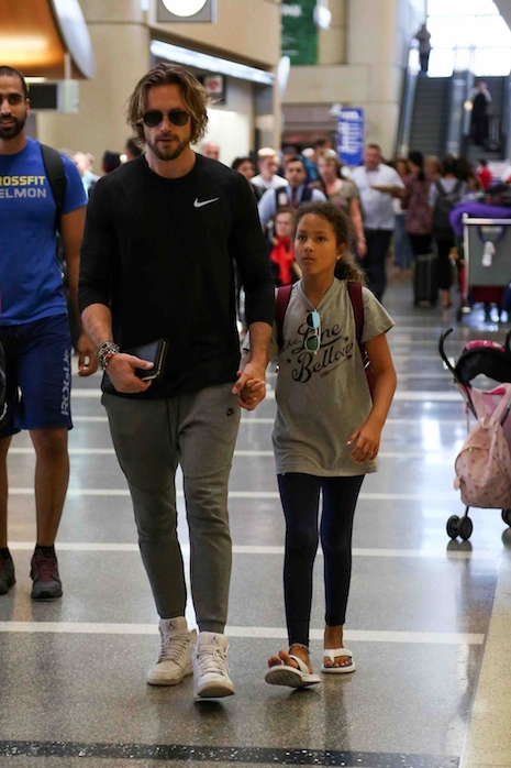 81eebf798da3 Gabriel Aubry and his daughter Nahla are taking off at LAX – probably to  visit his family in Canada. Nahla s mother