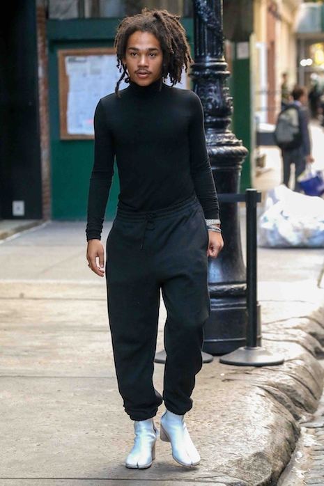 18c4ee328 Could NOT resist this photo of Grown-ish star Luka Sabbat, 20, walking down  the street in New York, looking adorable. Luka started modeling early on –  when ...