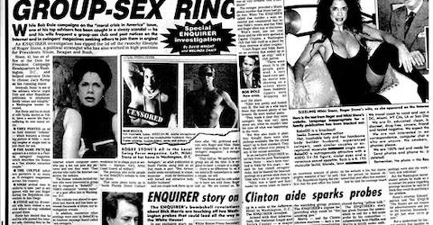 We were SO delighted to learn that The National Enquirer was responsible for  exposing the Roger Stone sex scandal in the mid 90 s when he was top  advisor ... 946ca5020