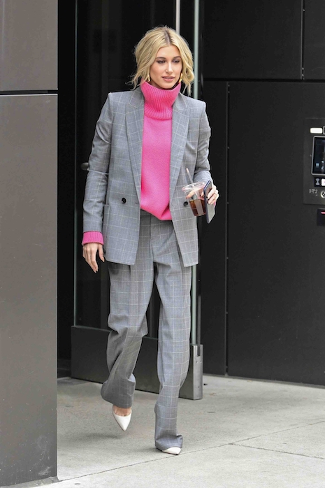 580a345d47ca Hailey Baldwin is in New York for fashion week and her husband Justin  Bieber is nowhere in sight. We had to laugh when Justin opened up about his  anxiety ...