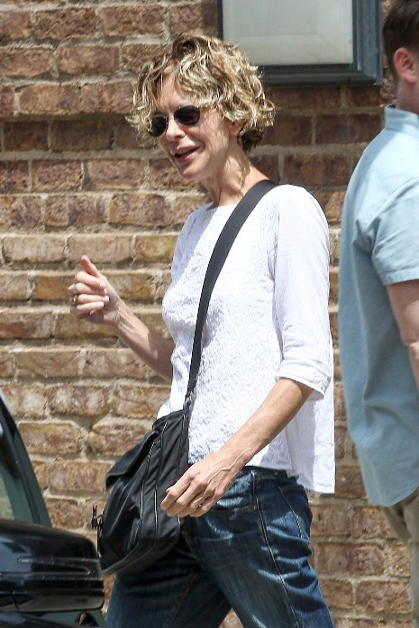 Meg Ryan leaving her hotel in NYC