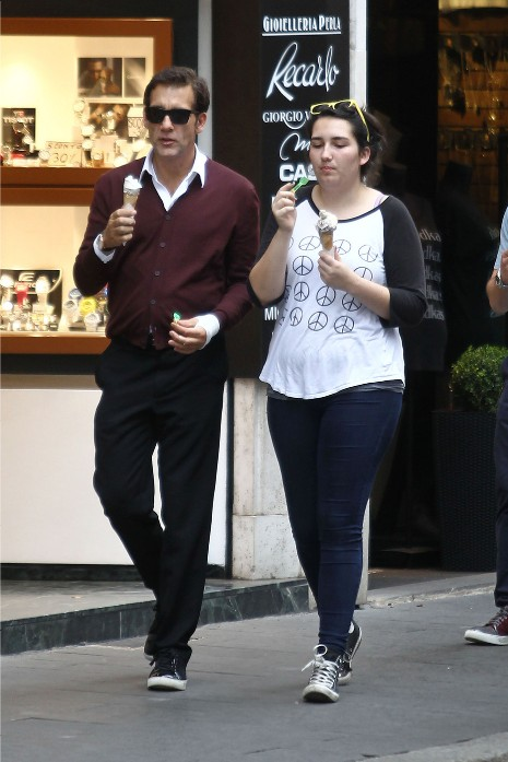 Photo of Clive Owen & his  Daughter  Eve Owen